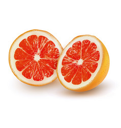 Ripe grapefruit on a transparent background vector