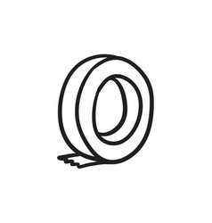 Roll of adhesive tape sketch icon vector