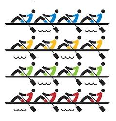 Rowing race vector