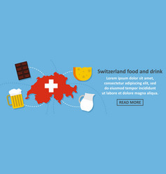 switzerland food and drink banner horizontal vector image