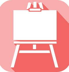Canvas on an easel icon vector