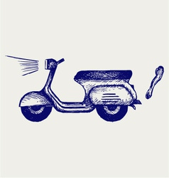 Vintage scooter vector image