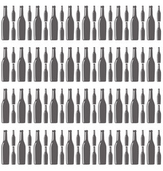 Bottles wine seamless pattern design vector