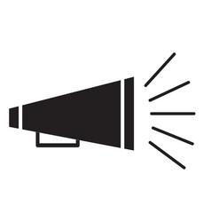 bullhorn symbol vector image