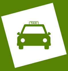 taxi sign   white icon vector image