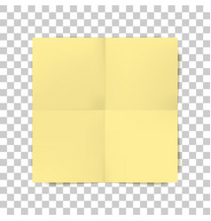 Yellow square folded paper sheet vector