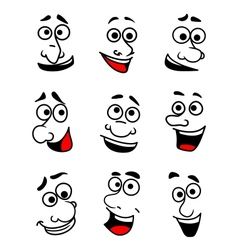 Emotional faces set vector