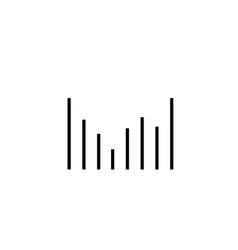 Column chart icon vector