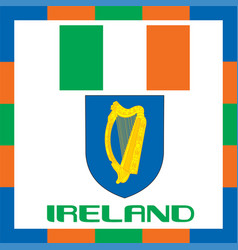 Official government ensigns of ireland vector