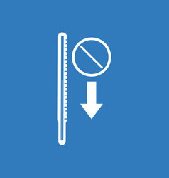 Icon medical thermometer vector