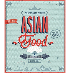 Asian menu color vector