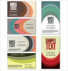 Modern colorful business card set vector
