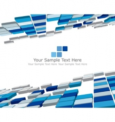 3d checked background vector image