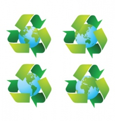 recycling world vector image