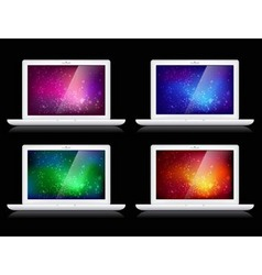 Laptops and backgrounds vector