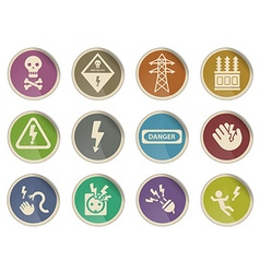High voltage simply icons vector image