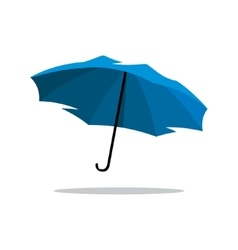 Blue umbrella cartoon vector