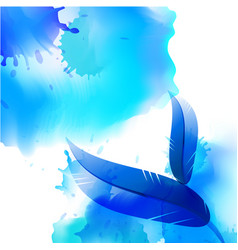 abstract bird feather background vector image