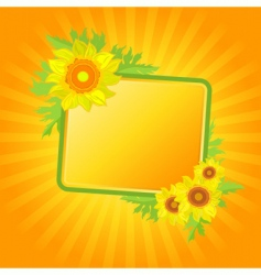 banner with sunflowers vector image vector image