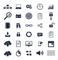 basic icons vector image