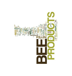 Bee supplements for your health text background vector