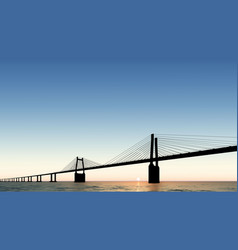Bridge dusk sunset vector