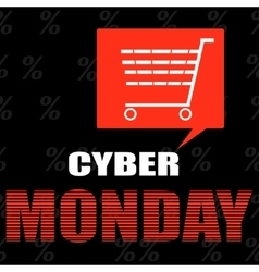 Cyber monday ecommerce promotions and sales vector