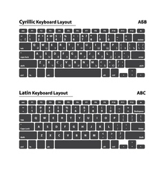 Cyrillic and Latin alphabet keyboard layout set - vector image vector image