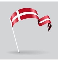 Danish wavy flag vector image