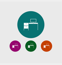 Desk icon simple vector