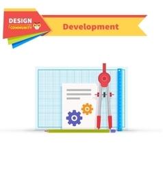 Developing solution design flat vector