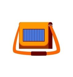 Female handbag with solar panel vector