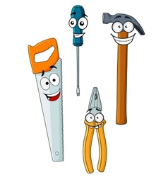 Happy and joyful work tools vector image