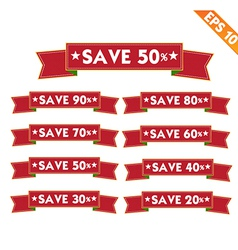 Label stitch template save tag - - EPS10 vector image