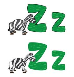 letter Z zebra vector image vector image