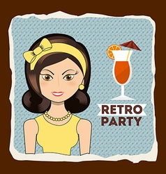 retro party vector image vector image