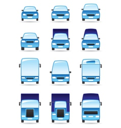 Road transport icons set vector
