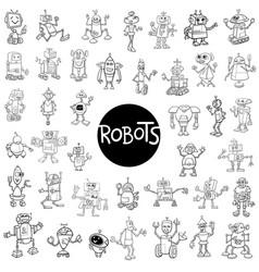 robot characters big set vector image vector image