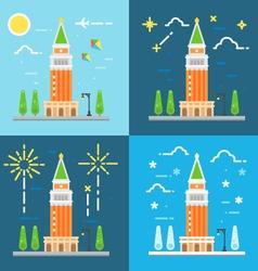 Saint marks campanile flat design vector