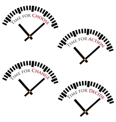set of time concepts vector image