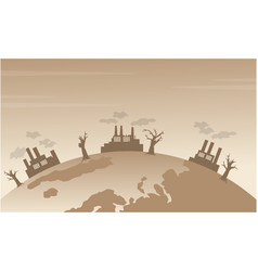 Silhouette of bad environment from world vector