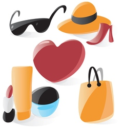 Smooth ladies icons vector image