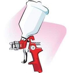 Spraying gun vector
