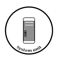 System unit icon vector image