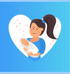 tender hugs of mother and her child the child vector image vector image