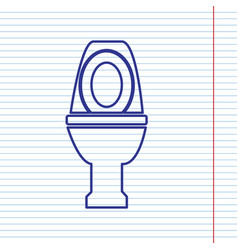 Toilet sign navy line icon vector