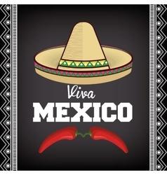 viva mexico sombrero poster icon vector image vector image