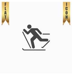 Skiing icon vector image