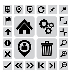 Internet icons set eps 10 vector image