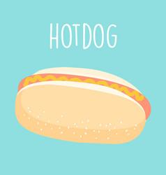 Fresh hot dog graphic vector